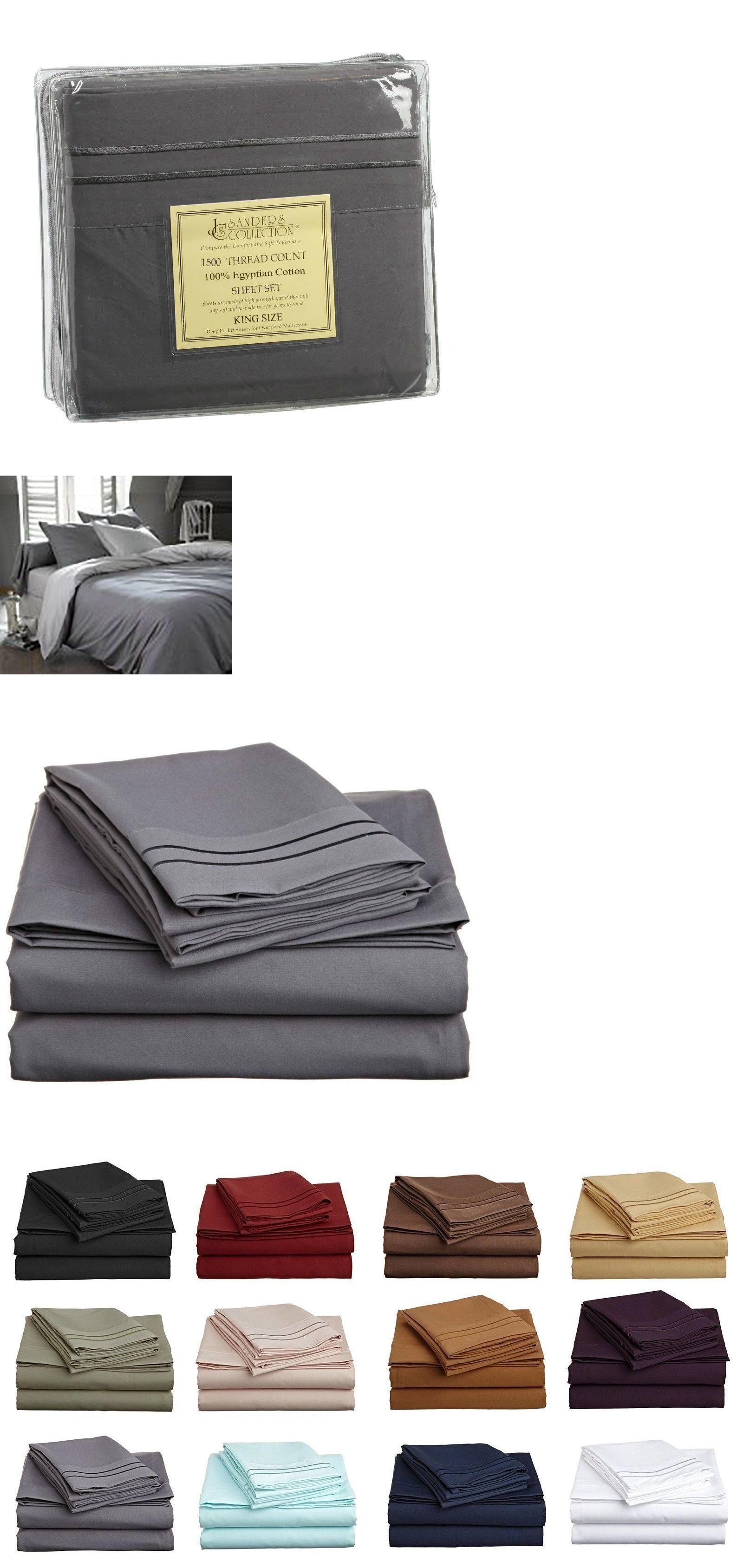 Sheets and pillowcases tc thread count luxury egyptian