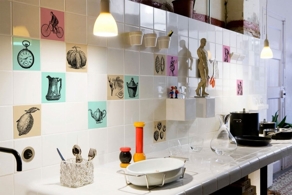 21 bonito vinilos para azulejos cocina im genes - Azulejos decorativos para cocina ...