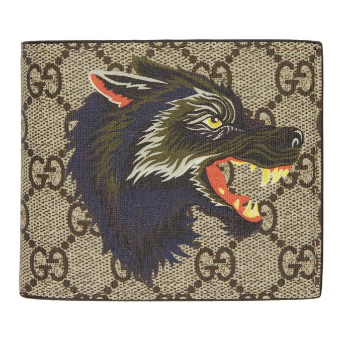 256306712118 GUCCI Beige GG Supreme Wolf Wallet. #gucci # | Gucci Men in 2019 ...