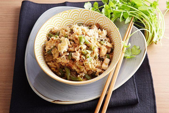 Poh's chicken & green bean fried rice