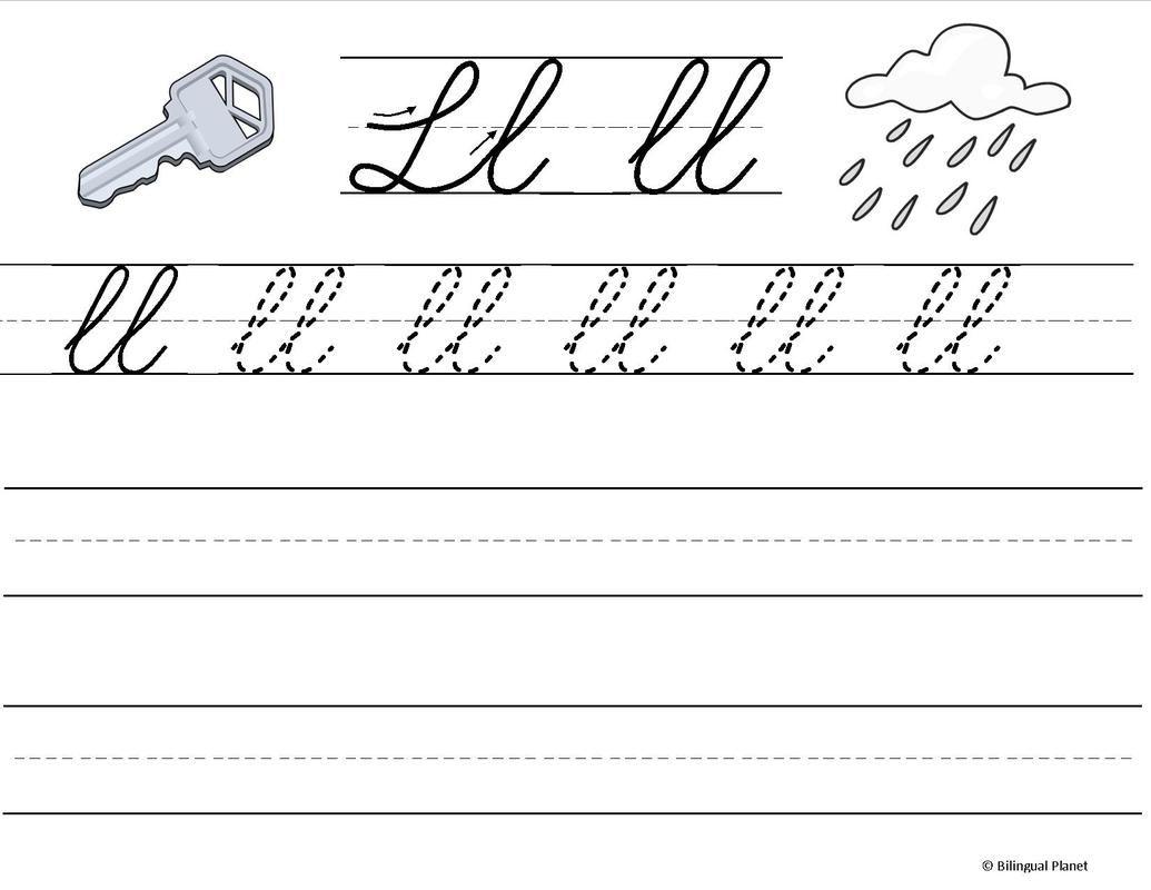 Free Spanish Penmanship Practice Abc Incluye Ch Ll Rr Para