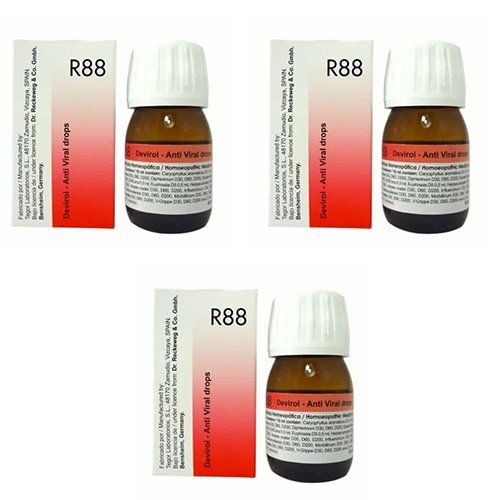3 Lots X Dr Reckeweg R 88 Homeopathic Remedy Drops 30Ml | Herpes