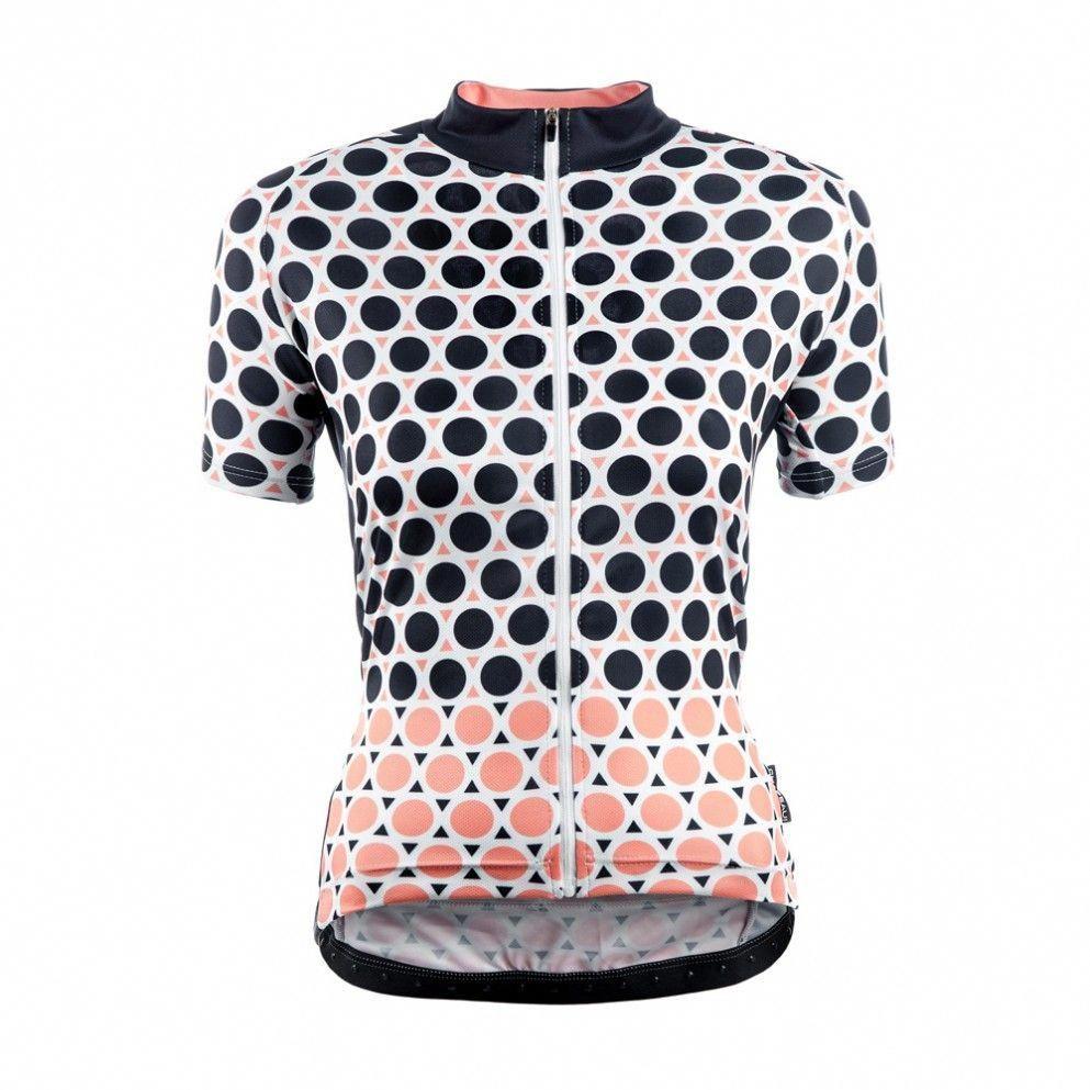 Chapeau Women Short Sleeve Jersey Madeleine Geo Polka The most stylish  ladies cycling jerseys we ve seen in a long time! Loving the Geometric  pattern ... c13a0abdd