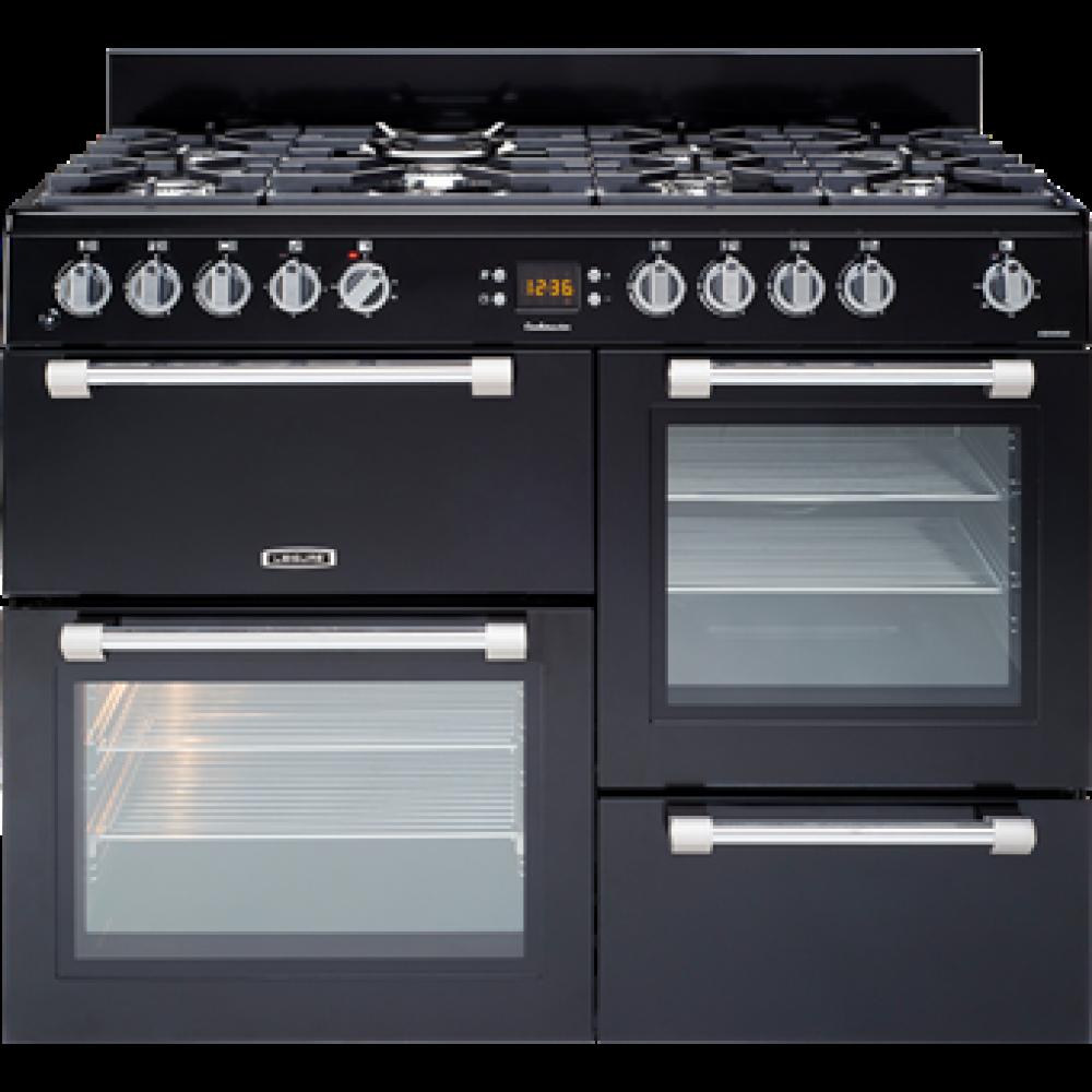 Piano Avec Four Gaz leisure cookmaster 110cm dual fuel range cooker - black