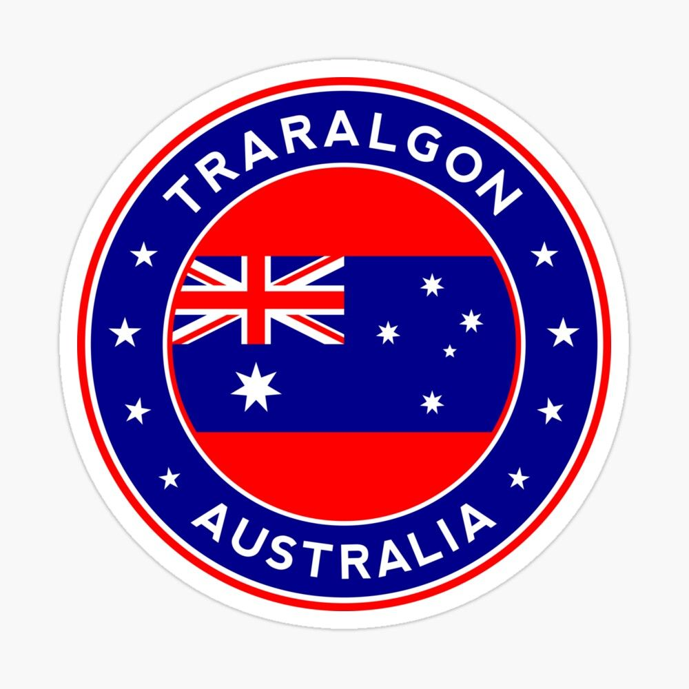 Traralgon Australia Sticker By Alma Studio In 2021 Stickers Wodonga Wagga Wagga [ 1000 x 1000 Pixel ]