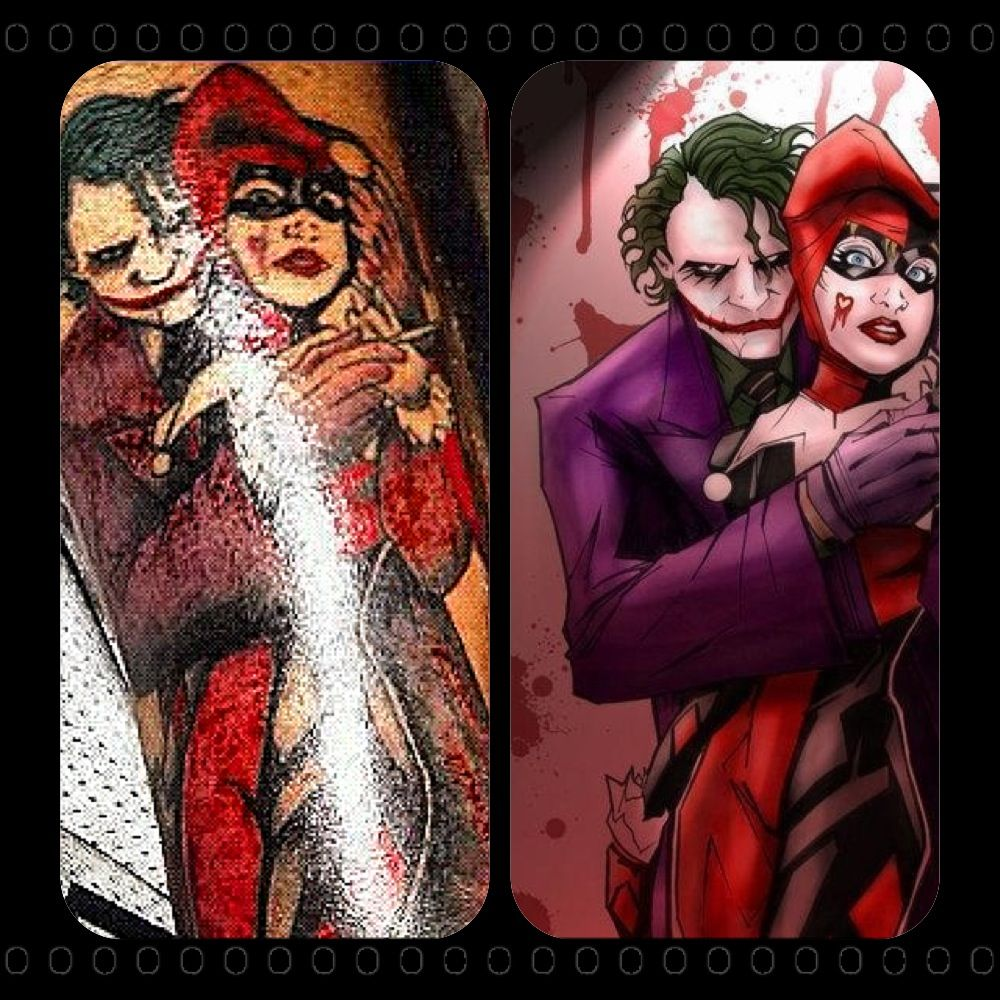 Matching Joker And Harley Tattoo: Pin On Full And Half Sleeve Tattoos