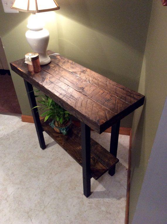 Entryway table, Foyer table, Console table, Rustic table | Mesa de ...