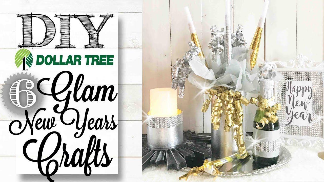 Diy Dollar Tree Glam New Year S Eve Crafts Decor Cute Easy Decor Ideas Using Stuff From The Dollar Tre Dollar Tree Diy New Year S Crafts Dollar Tree Decor