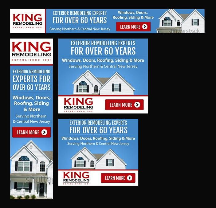 DisplayBanner Ad For Exterior Home Remodeling Company Remarketing - Home remodeling companies