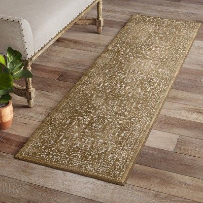 2 X7 Tribal Design Tufted Accent Rug Gold Threshold Adult Unisex Size 2 X7 Runner Rugs Accent Rugs Area Rugs