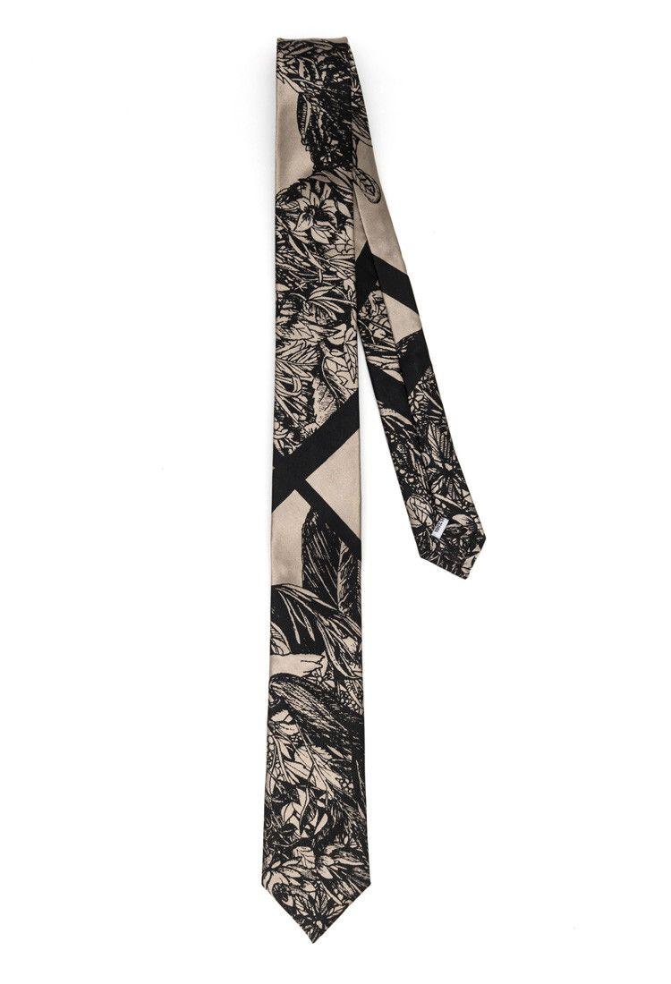 Flora & Fauna Slim Tie Nero Slim tie, Limited edition