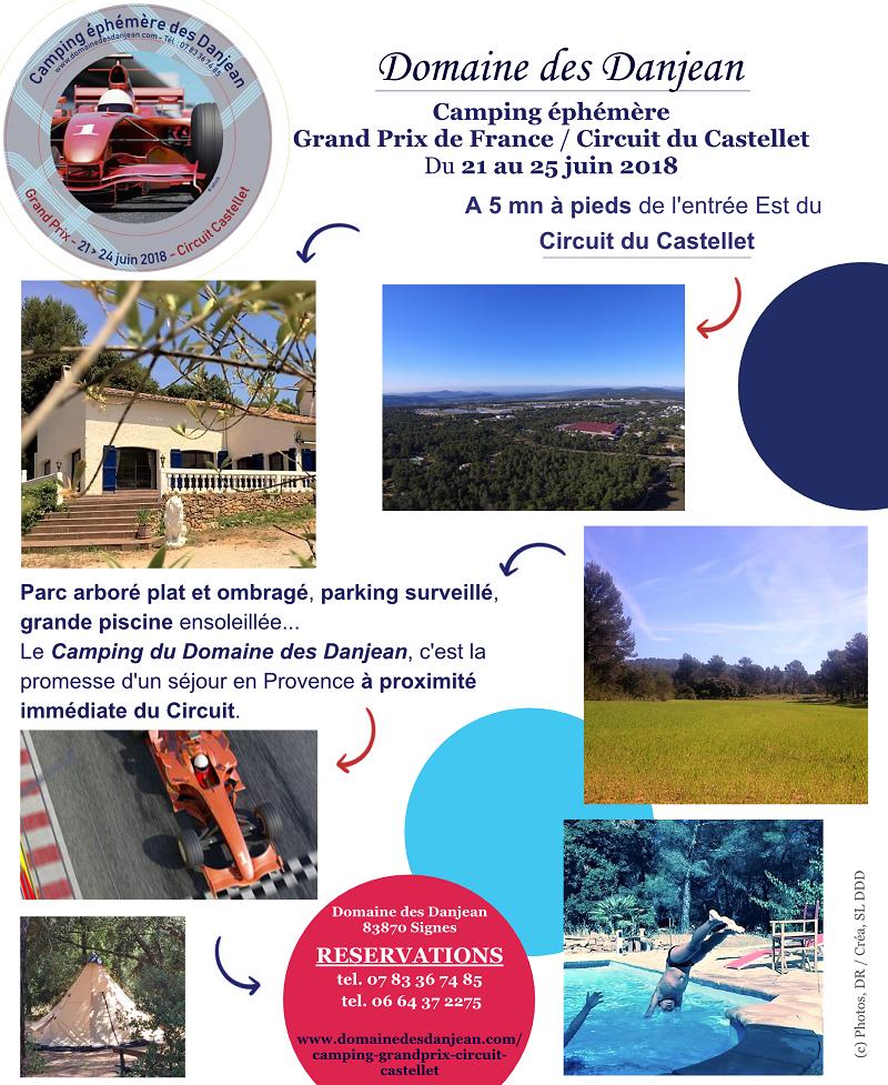 Camping officiel du Grand Prix de France 2018 au Circuit