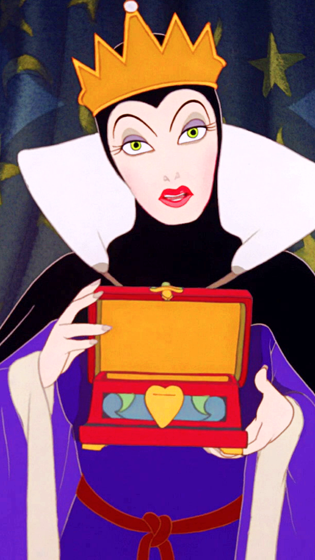 """The Evil Queen Grimhilde from """"Snow White and the Seven ...Disney Evil Queen Song"""