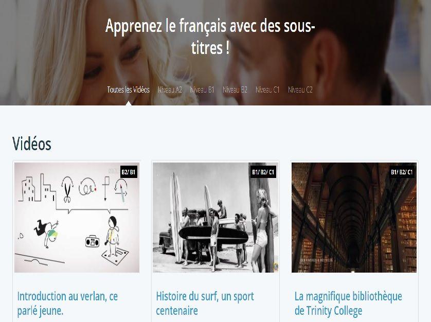 Linguo Tv Apprenez Le Français Avec Des Sous Titres Apprendre Le Français Apprendre Fle