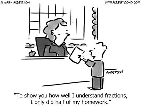 fractions humor | Teacher humor, Teacher cartoon, Math ...