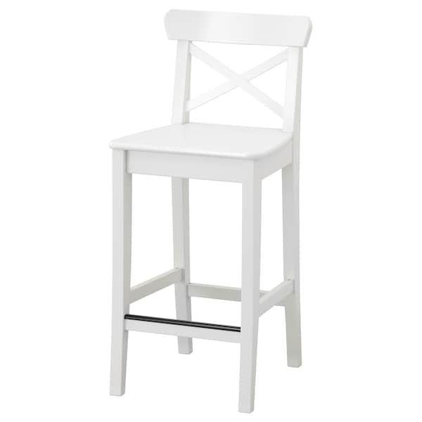 Ingolf Bar Stool With Backrest White 24 3 4 Ikea Tabouret De Bar Mobilier De Bar Tabouret De Bar Ikea