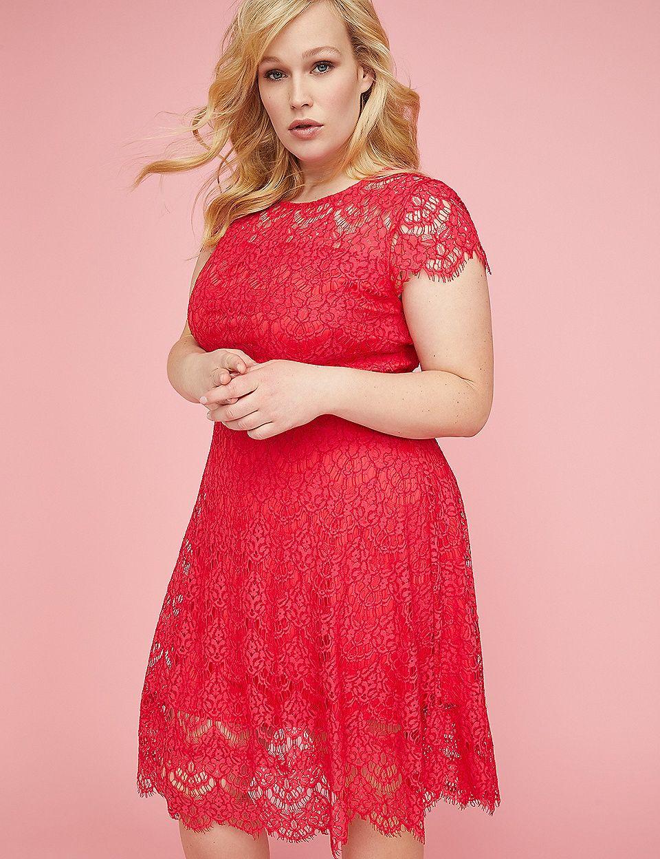 6dcd13848a0 Back Cutout Lace Fit   Flare Dress