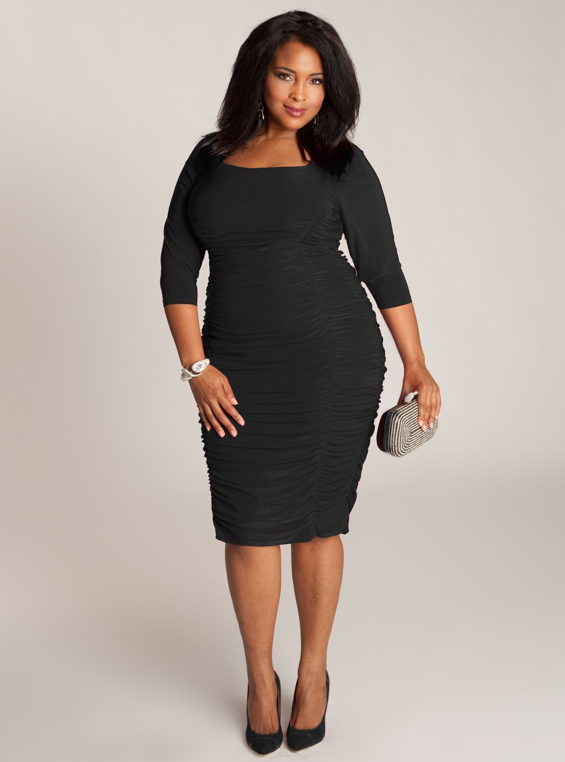 Black dresses for plus size women cheap