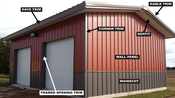Color Chart For Your Steel Metal Buildings Metal Buildings Metal Roof Colors Metal Building Homes