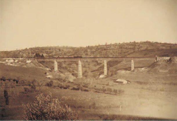 Bu gün mevcut olmayan gebze demiryolu köprüsü 1898
