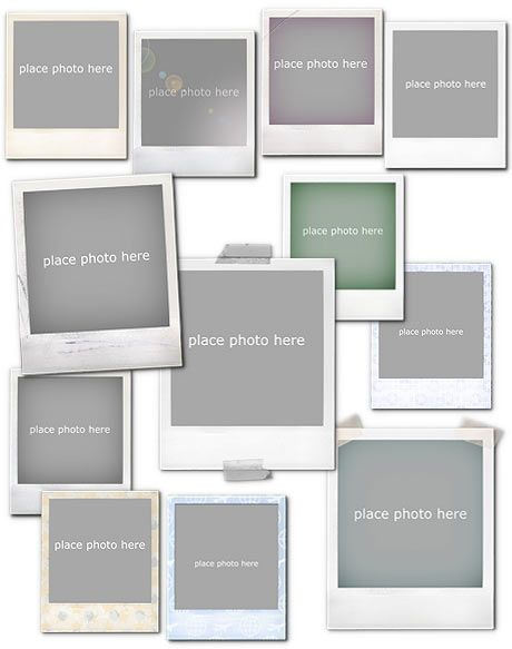 frames vol1 polaroid photoshop templates and tools arc4studio