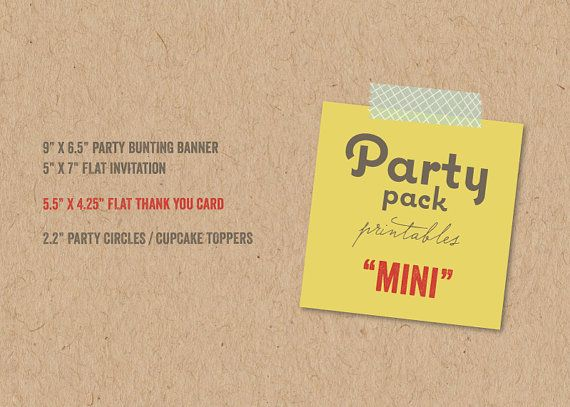 MINI Party Pack | Custom Party Decoration for Grown Up or Kids Birthday, Baby Shower, Bridal Shower, Holiday, Themed | Printable PDF - by fatfatin