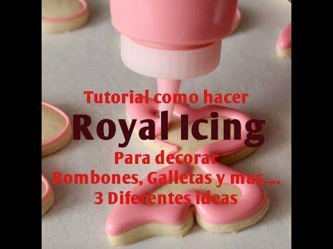 como hacer royal icing para decorar pasteles y mas postres pinterest royal icing royals and fondant
