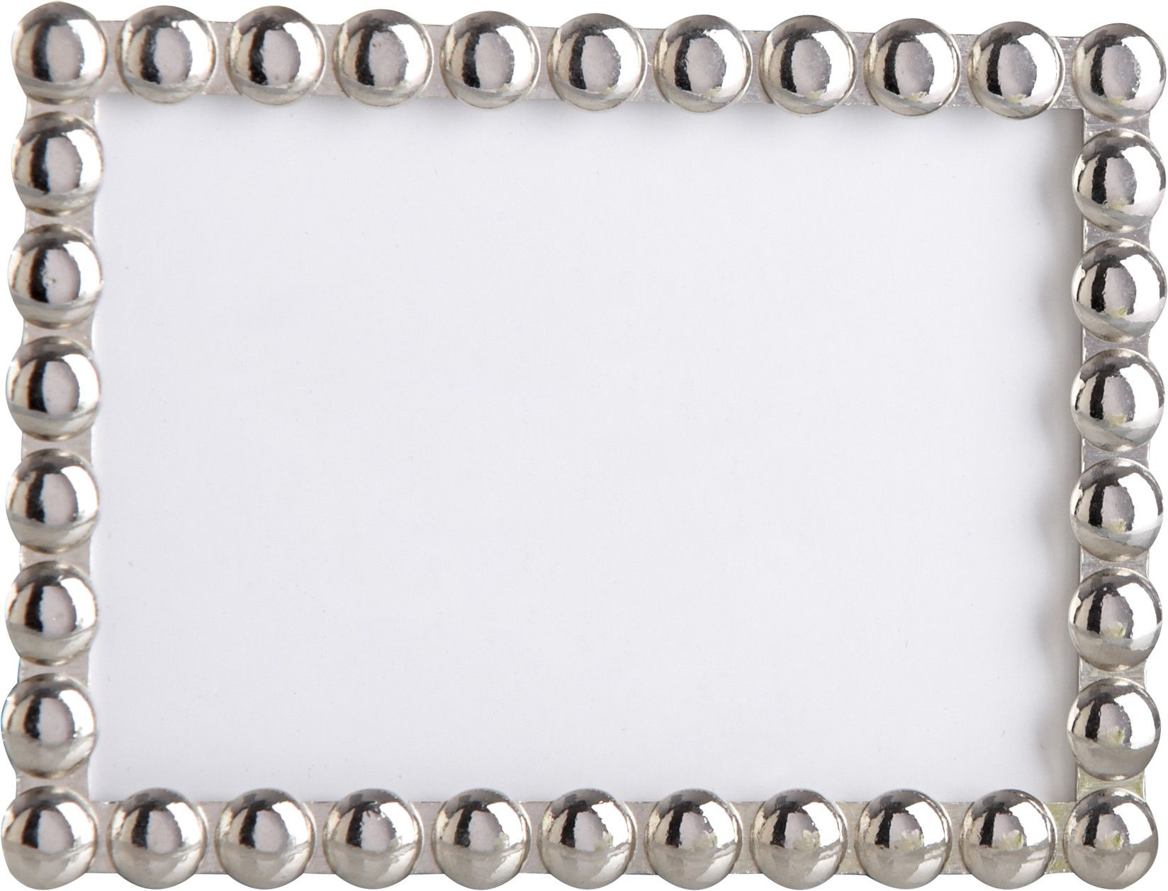 Silver Pearls\'\' Mini Photo Frame (Set of 10) | Products | Pinterest