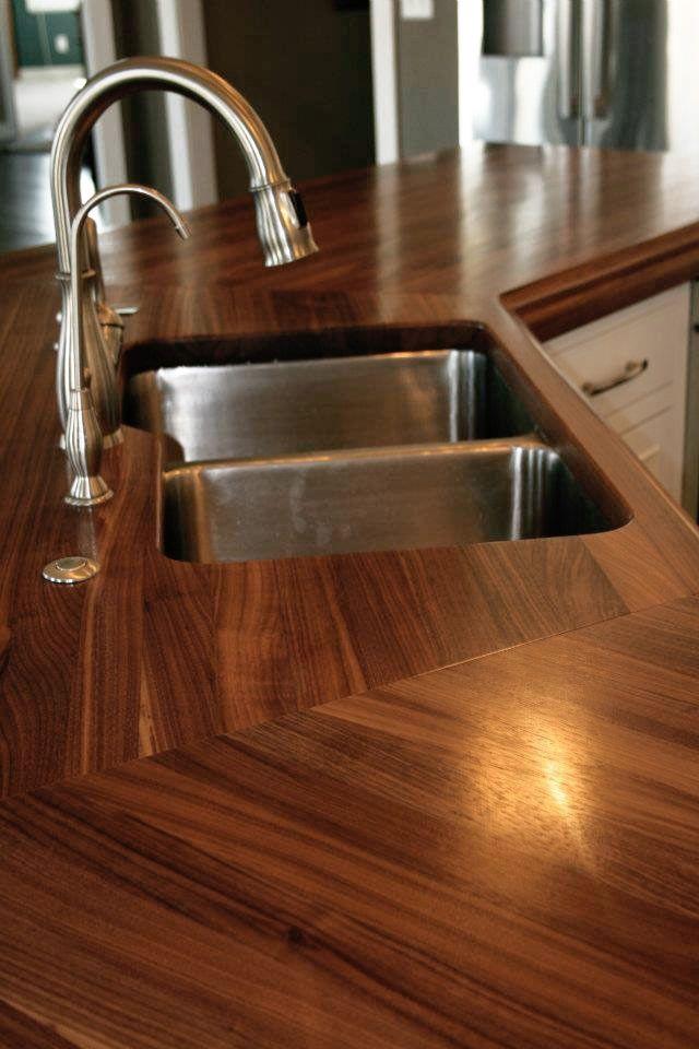 Custom Walnut Wood Countertop In Watford City North Dakota