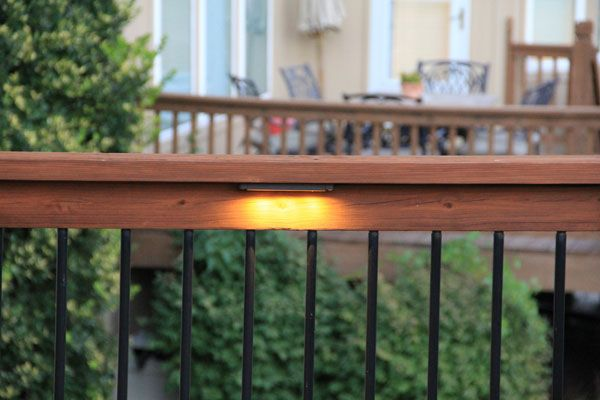 Under railing led lighting outdoor deck pinterest decking led under railing deck lights and step lights mozeypictures Image collections