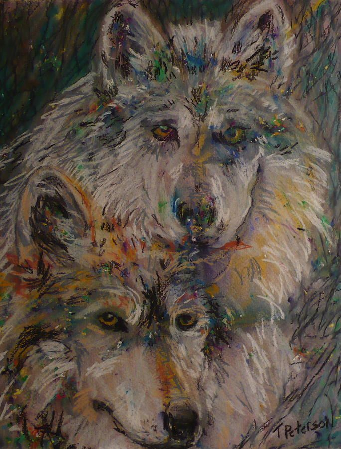 easy acrylic painting on canvas wolves