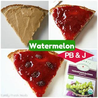 Watermelon Pb & J   A fun twist on an old favorite!