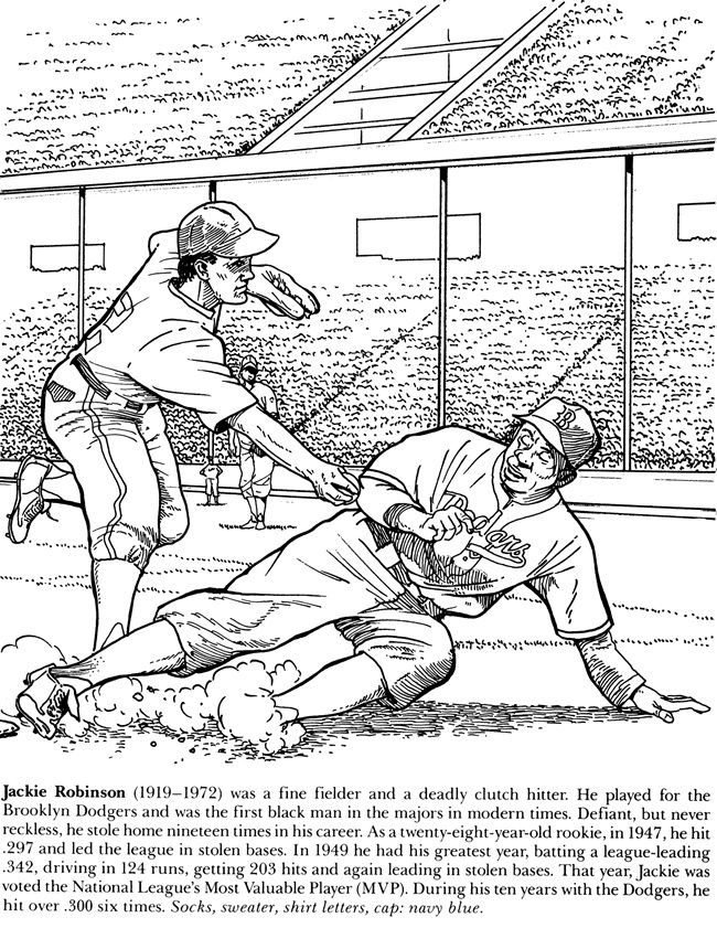 jackie robinson for kids coloring page | jackie robinson | Black ...