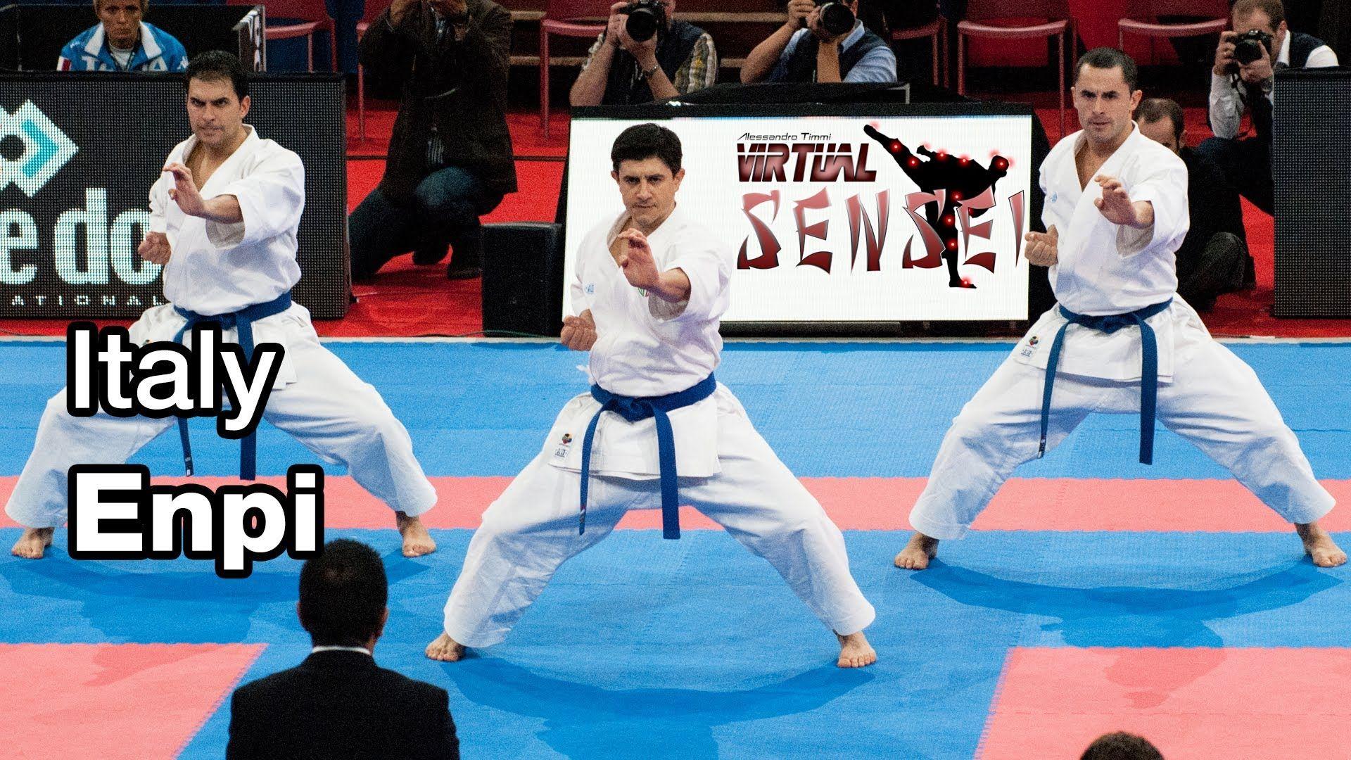 Italy Male Team Kata Enpi 21st Wkf World Karate Championships