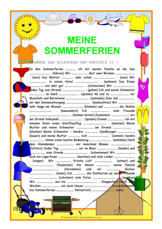 Sommerferien | Pinterest | Deutsch, Schule und Ferien