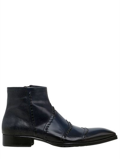 Jo GhostWASHED SMOOTH LEATHER ANKLE BOOTS 1E568U