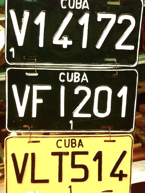 Vintage Cuban Plates All Things Cuban Pinterest De Autos
