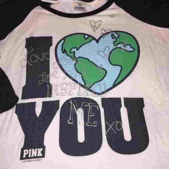 3/4 length Tshirt L VS PINK Size L pink by vs Tshirt PINK Victoria's Secret Tops Tees - Long Sleeve