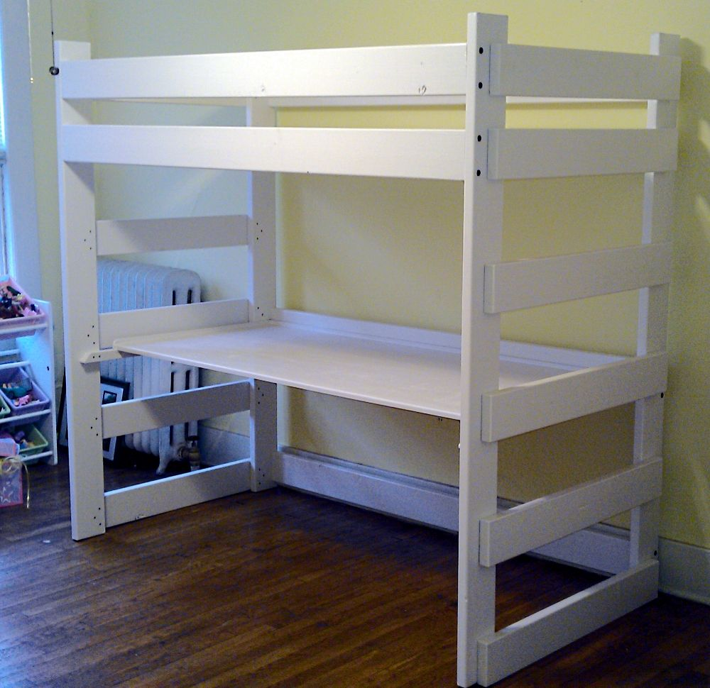 Super simple! College loft beds, Modern home office