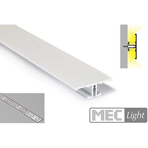 LED ALU Profil Weiß eloxiert Up/Down für LED Streifen 2m