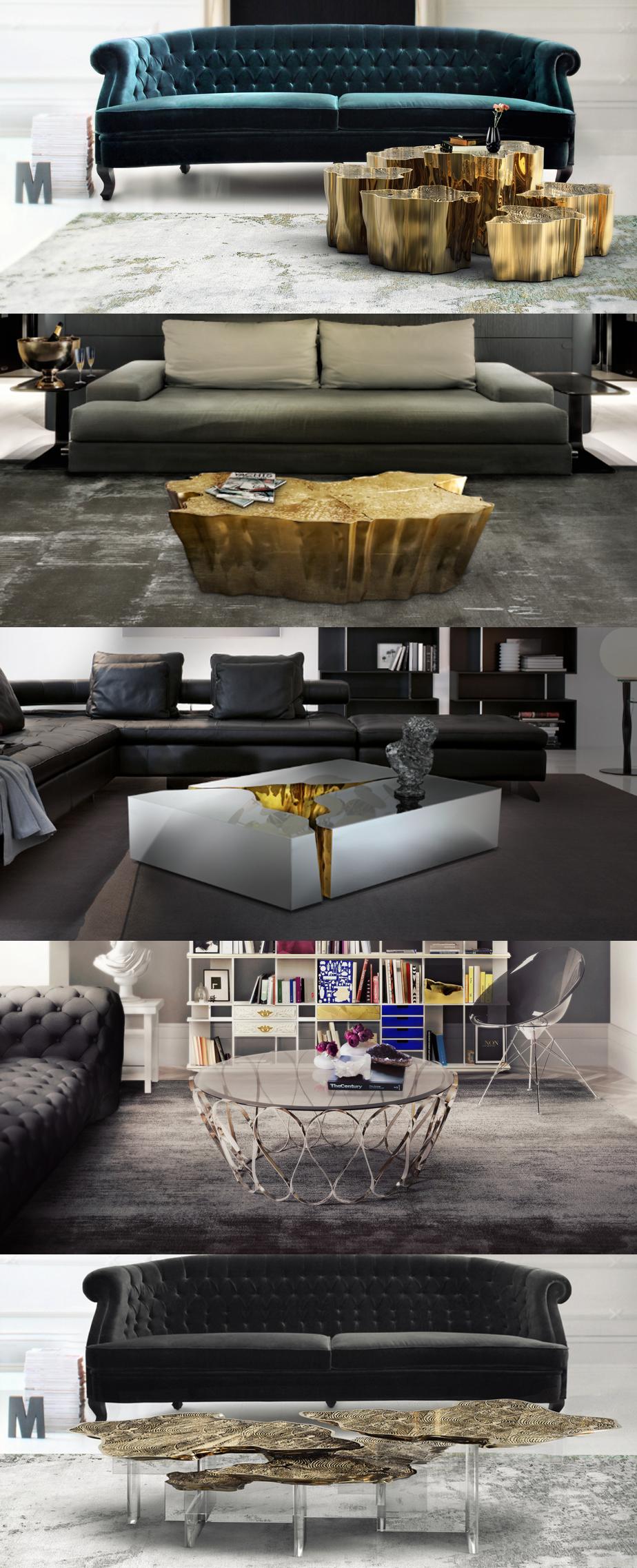 Top 5 Coffee Tables Brass Mirror Metal Center Tables Www Bocadolobo Com Livingroomideas Interiordesign Homede Arredamento Idee Per La Casa Tavolini Bassi
