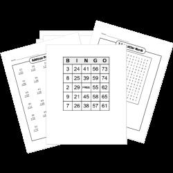 FREE Printable Math Worksheet and Game Generators