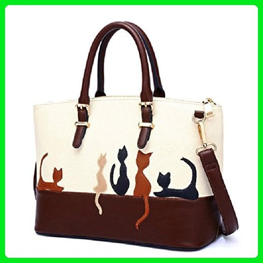 GBSELL Fashion Womens Vintage Leather Corssbody Shoulder Bags Handbag with Wide Belt Brown