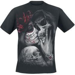Photo of Spiral Dead Kiss Herren-T-Shirt – schwarz Spiral Direct