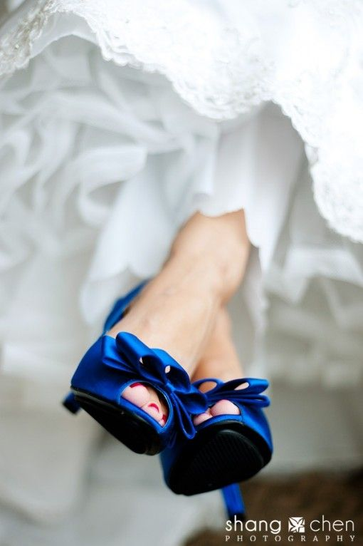 I love when a bride wears a colored shoe with her wedding dress!  http://indianweddingsite.com/blog/wp-content/uploads/2013/09/dazzling-blue-wedding-shoes-e1379903204714.jpg Dazzling Blue Inspiration   Dazzling Blue Weddings in Hawaii planned by Hawaii Weddings by Tori Rogers http://www.hawaiianweddings.net