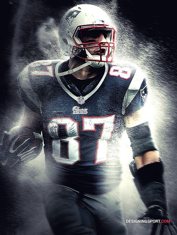 Rob Gronkowski New England Patriots Sport Art New England Patriots Wallpaper New England Patriots Gronkowski