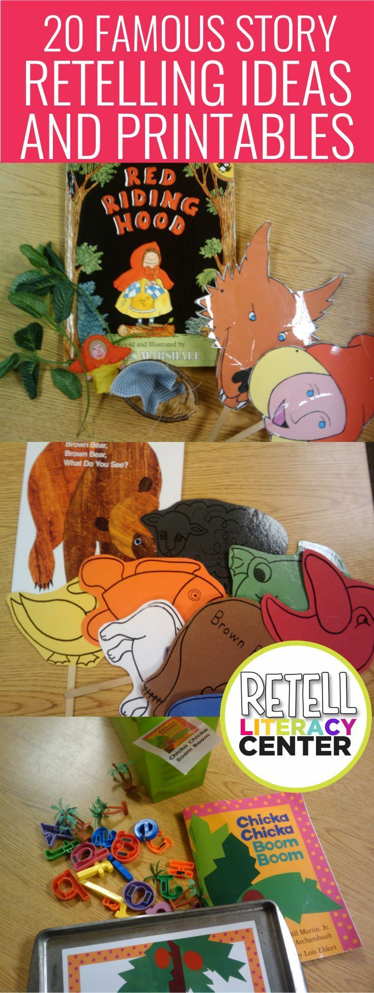 Literacy Center {20 Famous Story Retelling Ideas and Printables} 20 famous story retelling ideas and printables for kindergarten - I love these... I could easily make these a literacy center that'd last the whole year20 famous story retelling ideas and printables for kindergarten - I love these... I could easily make these a literacy center that'd last the w...