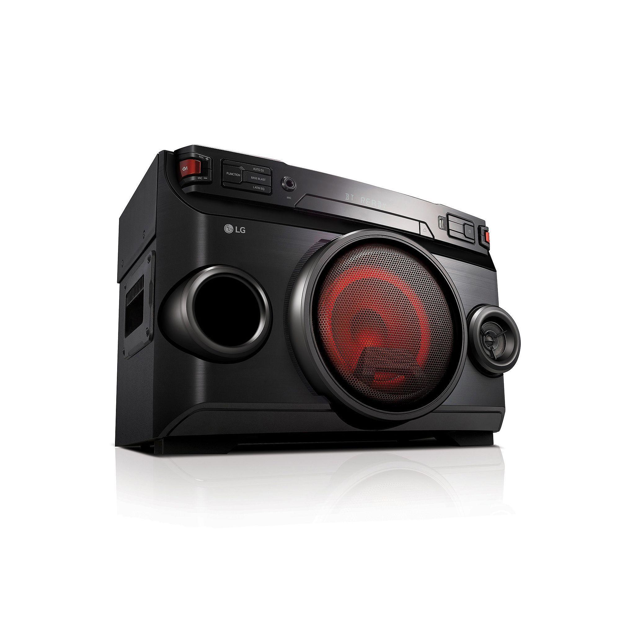 LG 220W Cube Mini Shelf Audio System (OM4560), Black