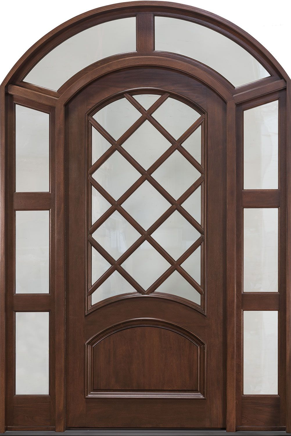 Front Door Custom Single With 2 Sidelites W Transom Solid Wood Natural Walnut Finish Clic Model Db 552w 2sl Tr Cst Glenview Doors In