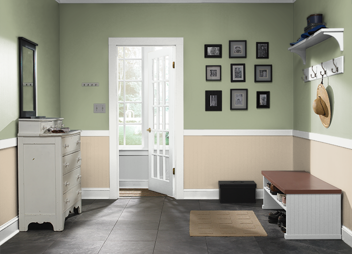 This Is The Project I Created On Behr Com I Used These Colors Clary Sage Ppu11 07 Baja Ppu7 08 Sliced Cucumber Behr Paint Colors Master Bedroom Colors Home